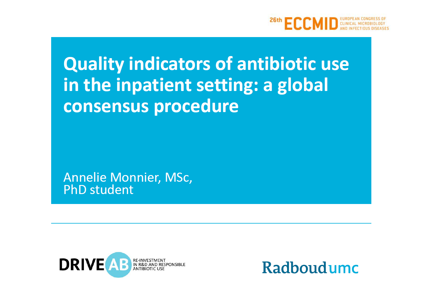 ECCMID presentation quality indicators 2016